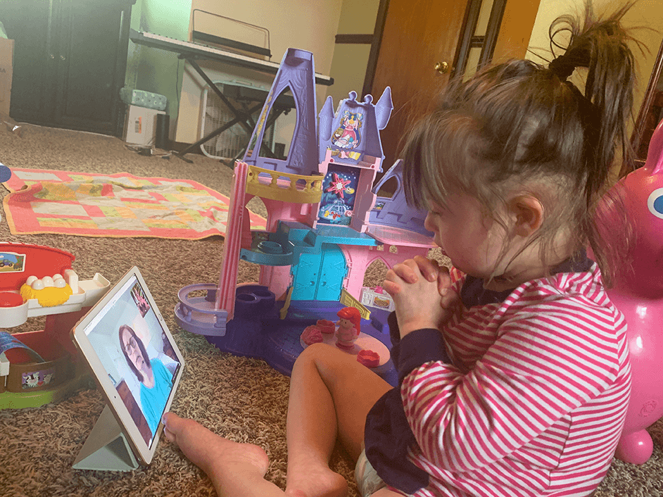 'Our Lifeline': Mother of girl with Down syndrome uses video sessions to connect with daughter's Phy