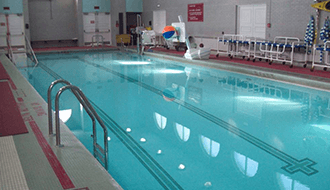 ADA-equipped swimming pool
